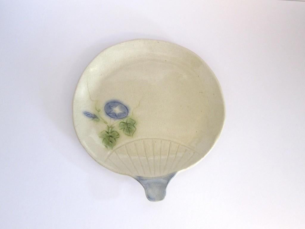 朝顔団扇皿
