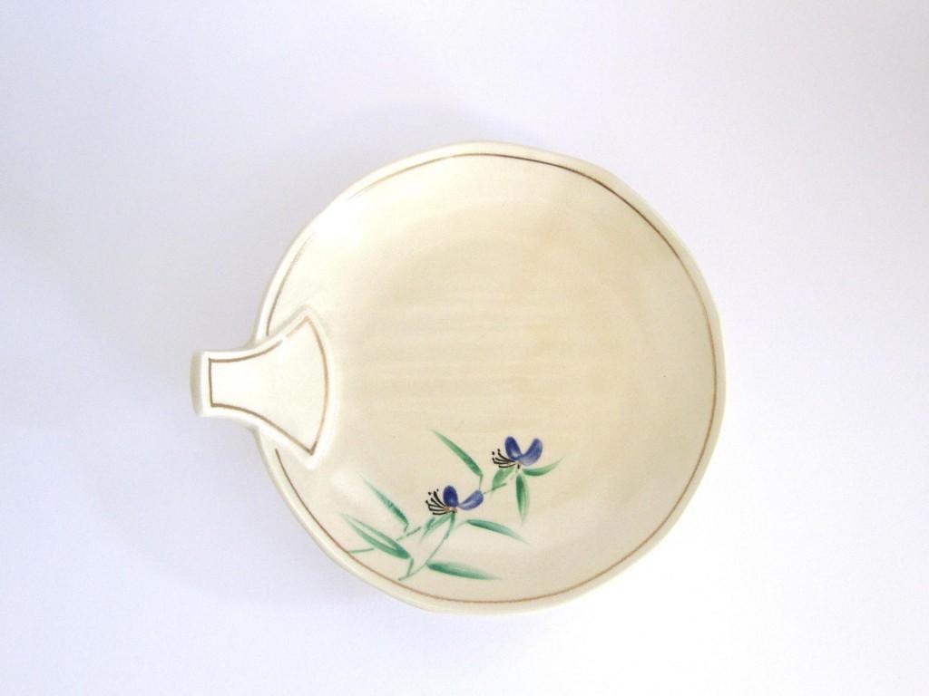 粟田つゆ草団扇皿